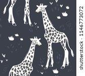 Giraffe Vector Pattern Isolated ...