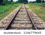 Train Rails In Country Landscape