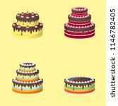 set of cake vector | Shutterstock .eps vector #1146782405