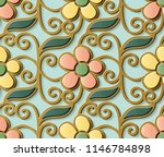 seamless relief sculpture... | Shutterstock .eps vector #1146784898