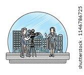 doodle professional cameraman... | Shutterstock .eps vector #1146786725