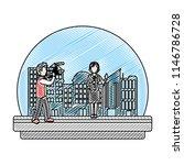 doodle cameraman camcorder film ... | Shutterstock .eps vector #1146786728