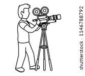 line professional cameraman... | Shutterstock .eps vector #1146788792
