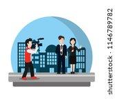 cameraman camcorder film to... | Shutterstock .eps vector #1146789782