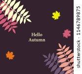 hello autumn vector design set...   Shutterstock .eps vector #1146789875