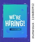 we are hiring  join our team ... | Shutterstock .eps vector #1146803912