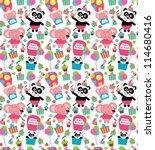 cute baby pattern design.... | Shutterstock .eps vector #114680416