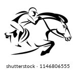 woman riding a horse   show... | Shutterstock .eps vector #1146806555