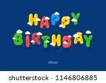 happy birthday typography... | Shutterstock .eps vector #1146806885