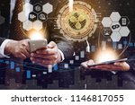 ripple and cryptocurrency... | Shutterstock . vector #1146817055