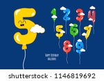 color balloons numbers for... | Shutterstock .eps vector #1146819692