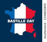bastille day design | Shutterstock .eps vector #1146823805