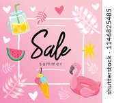 summer sale banner design... | Shutterstock .eps vector #1146825485