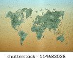 world map  world background on... | Shutterstock . vector #114683038