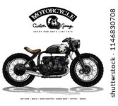vintage motorcycle poster | Shutterstock .eps vector #1146830708