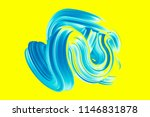 abstract turquoise shape on a... | Shutterstock . vector #1146831878