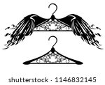 flying hanger with bird wings   ... | Shutterstock .eps vector #1146832145