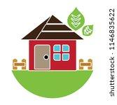 vector house exterior... | Shutterstock .eps vector #1146835622