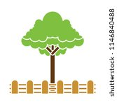 Forest  Vector Tree With Wooden ...