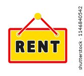 for rent sign board. rented car ... | Shutterstock .eps vector #1146840542