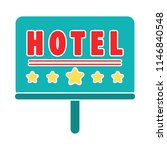 hotel sign and symbol. travel... | Shutterstock .eps vector #1146840548