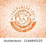 dab orange mosaic emblem with... | Shutterstock .eps vector #1146845135