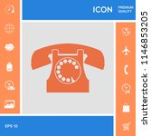 retro telephone symbol | Shutterstock .eps vector #1146853205