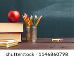back to school background with... | Shutterstock . vector #1146860798
