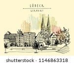 hanseatic city of  lubeck ... | Shutterstock .eps vector #1146863318