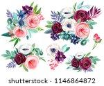 watercolor illustration  set of ... | Shutterstock . vector #1146864872