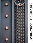 wrought iron gates  ornamental... | Shutterstock . vector #1146866108