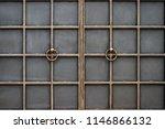 wrought iron gates  ornamental... | Shutterstock . vector #1146866132