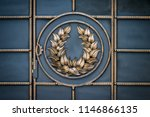 wrought iron gates  ornamental... | Shutterstock . vector #1146866135