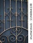 wrought iron gates  ornamental... | Shutterstock . vector #1146866138