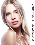 beauty portrait of attractive... | Shutterstock . vector #1146868895