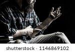 straight razors  barbershop ...   Shutterstock . vector #1146869102