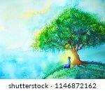 blue color chakra human lotus... | Shutterstock . vector #1146872162