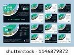 business calendar for... | Shutterstock .eps vector #1146879872