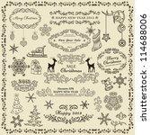 set of christmas design elements | Shutterstock .eps vector #114688006