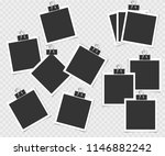 collection of photo frame with... | Shutterstock .eps vector #1146882242