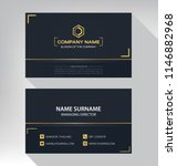 business model name card luxury ... | Shutterstock .eps vector #1146882968
