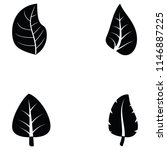 leaf icon set | Shutterstock .eps vector #1146887225