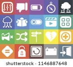 set of 20 icons such as exit ...