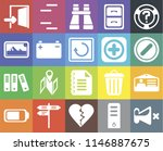 set of 20 icons such as mute ...