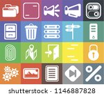 set of 20 icons such as percent ...