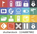 set of 20 icons such as lock ...