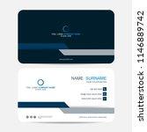 business card vector background | Shutterstock .eps vector #1146889742
