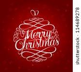merry christmas ball typography ... | Shutterstock .eps vector #114689278