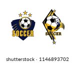 soccer club logo team foot ball ... | Shutterstock .eps vector #1146893702
