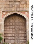 Entrance of a fort, Old Fort, Delhi, India - stock photo